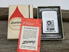 Vintage 1974 Ortmeier Machinery Corporate Ad Zippo Lighter UNFIRED ORIGINAL BOX