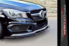Cup Spoilerlippe schwarz Mercedes CLA 45 AMG Front Spoiler Schwert Splitter C117