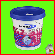 1.5 Kg Fix 'N' Grout - White - Bond It - Adhesive and Grout for Wall Tiles