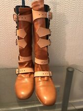 VIVIENNE WESTWOOD PIRATE BOOTS SIZE 6 - TAN