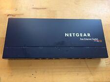 NETGEAR ProSAFE FS108 Fast Ethernet Switch w/ 8 non-PoE Ports & 4 Ether-USB Cbls