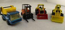 Vintage Matchbox & Mattel Cars Bundle  Construction  1980s Diecast Toy Car Rare