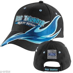 BUILT FORD TOUGH NEW BLACK & BLUE FORD THUNDER RACING MONSTER TRUCK HAT CAP!