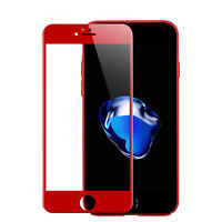 Red Genuine Full Cover Screen Tempered Glass Film For Apple iPhone 7 / Plus Lot