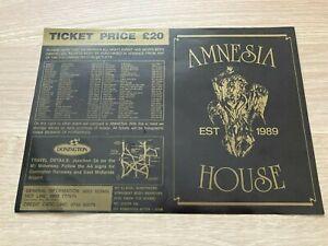 Amnesia House - Donington - 1991 Rave Flyer / Acid House / Club - The Prodigy