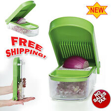 Onion Slicer Dicer Veggie Cutter Kitchen Chopper Food Tool Container Fruit