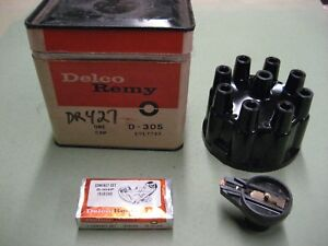 NOS Delco Remy D305 1917247 Distributor cap D104P points D403 Rotor V-8 New