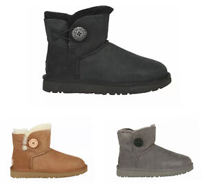 NEW Women's UGG Mini Bailey Button II Boots - Multiple Colors | FREE SHIPPING