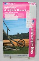 Ordnance Survey A/W Landranger Map - Aylesbury & Leighton Buzzard - Sheet 165