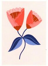 FINE ART GREETING CARD FLOWERS Spotted BIRTHDAY Blank RISOGRAPH MELISSA DONNE