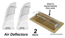 2 x Heavy Duty Air Deflectors for Floor Registers / Vents / Ducted Heating