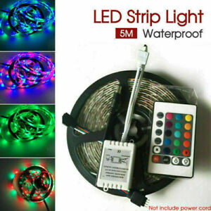 5M 3528 SMD LED Strip Light 300 LEDS RGB 12V + IR Controller Waterproof AU