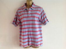 MINI BODEN Blue red striped Short sleeved polo shirt Top 13 - 14