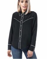Levi's Women's Silk Shirt Alexandra Western Shirt In Jet Black