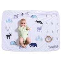 Baby Monthly Milestone Blanket For Girl Boy Floral  Unicorn Frame H2V4