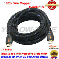 30FT Premium 1080P HD HDMI Cable V1.4 For BLURAY 3D DVD HDTV PS3 XBOX LCD TV USA