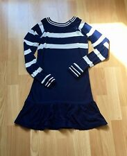 Robe Manches longues RALPH LAUREN Originale Bleu marine et écru - taille 6 ans