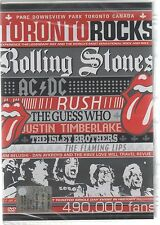 TORONTO ROCKS ROLLING STONES AC/DC RUSH THE GUESS WHO FLAMING LIPS DVD SIGILLATO