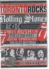 TORONTO ROCKS ROLLING STONES AC/DC RUSH LA CONJETURA WHO LLAMEANTE LIPS DVD