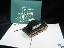 Unique Military Tank 3-D Pop-Up Greeting Card w/Envelope New NIP
