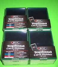 100 TOPLOAD CARD HOLDER - GREEN BORDER,FOR TRADING CARDS,12M 3 X 4 RIGID PLASTIC