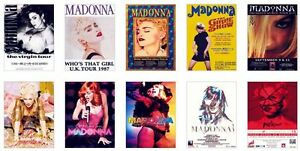 Madonna Concert Posters Trading Card Set FREE UK POSTAGE