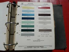 1962 Dodge paint chip page PPG Ditzler - with color combinations