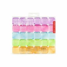 Kikkerland Reusable Square Multi-Color Ice Cubes - Set of 30