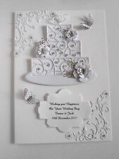 Personalised Handmade Anniversary/ Wedding Day Card Flowers and Cake