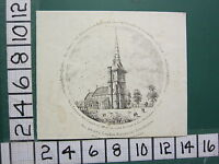 C1860 Antico Piccolo Kent Stampa ~ All Saints Chiesa Ridgmount Bedfordshire
