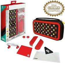 Super Mario Edition Nintendo Switch Accessory Kit Bundle Case Protector + More