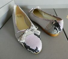 NEW Amalfi Slip On Rose Lilac Snake print Leather Flats Dressy Shoe 10 OMERO