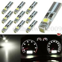 10x Ampoule lampe LED Voiture T5 37 70 Blanc 3528 1210 3 SMD Tableau Bord Wedge