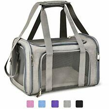 Cat Carriers Dog Carrier Pet Carrier for Small Cats Dogs Puppies Medium Grey