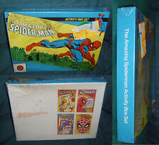 SPIDER-MAN ACTIVITY BOX, TEMPO BOOKS, WORDWEBS, MAZES SEALED, UNUSED, 1977