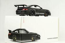 Porsche 2007 911 997 gt3 RS museo Zuffenhausen negro mate 1:18 Welly