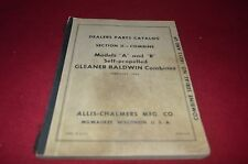 Allis Chalmers A & R Gleaner Combine Dealer's Parts Book DCPA6