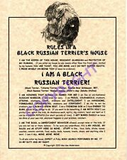 Rules In A Black Russian Terrier's House