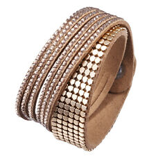 Crystal Closure Cuff Rhinestone Slake Duo Gold Bracelet Swarovski Element