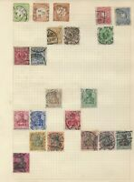 GERMAN EMPIRE REICH Stamps on 8 Old Album Pages 1872 Onwards
