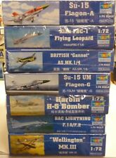 Mega Lot Trumpeter 1/72 Scale Aircraft Model Kits (7) New