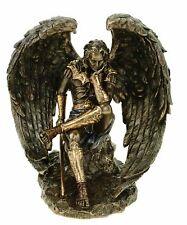 Gefallener.engel Luzifer mit Schwert Figur bronziert Skulptur Satan Teufel
