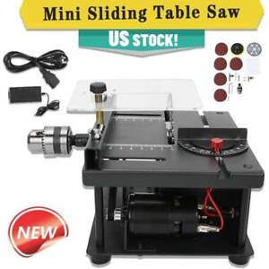 Mini Sliding Table Saw Woodworking DIY Hobby Model Cutting Bench Saw Household