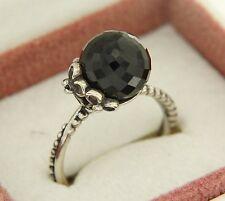Authentic Pandora 190848SPB-54 Garden Odyssey Black Spinel Sz 6.75 Sterling Ring