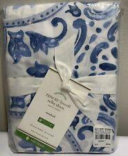 "Pottery Barn Standard Tencel Lyocell Selby Sham, Blue, 26"" x 20"", Free Shipping"