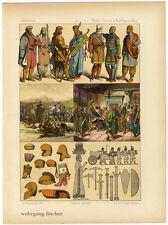 Meder, persas y circunstante. chromolithographie de 1884
