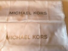 2 New Michael Kors MK Drawstring Dust Bag 13'' X 13'' White