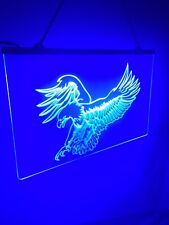 Eagle Blue Custom Led Lighted Sign Game Room ,Garage ,Man Cave ,Bar