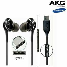 Universal SAMSUNG GALAXY NOTE 10/10+ AKG EARPHONES HEADPHONES USB TYPE C BLACK