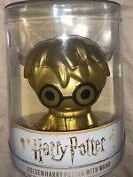 Headstart Vinyl Edition Golden Harry Potter With Wand 4 inch Gift